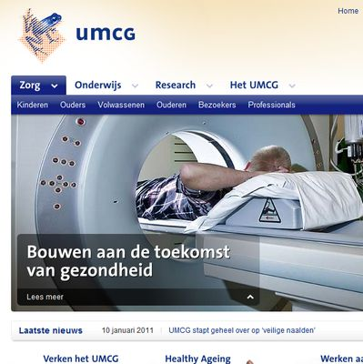 homepage website umcg